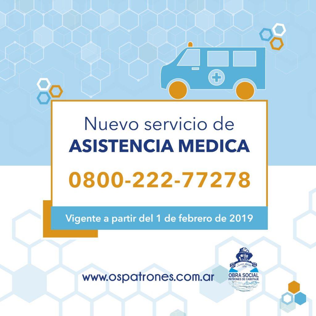 Nuevo servicio de asistencia médica